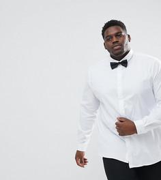 Приталенная рубашка и галстук-бабочка Heart & Dagger PLUS - Белый