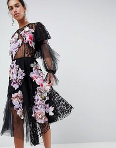 Платье в стиле пэчворк ASOS EDITION - Черный