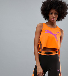 Оранжевая майка с завязкой Puma эксклюзивно для Asos - Оранжевый