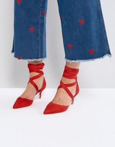 Красные туфли с каблуком-рюмочкой RAID Tanisha - Красный
