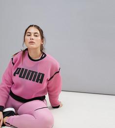 Сетчатый свитшот Puma Plus Active эксклюзивно для Asos - Фиолетовый