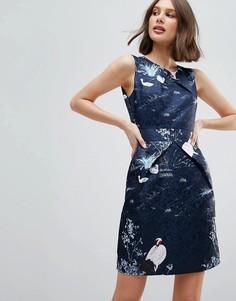 Платье с принтом птиц Uttam Boutique - Мульти
