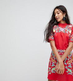 Платье мини с вышивкой ASOS TALL PREMIUM - Красный