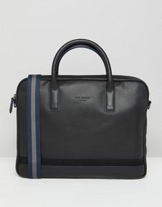 Кожаная сумка для ноутбука Ted Baker - Черный