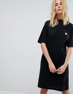 Платье-футболка с логотипом в виде черепа Cheap Monday - Черный