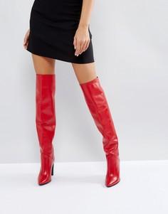Высокие сапоги Morgan - Красный