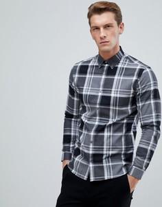 Облегающая рубашка в клетку Jack & Jones - Серый