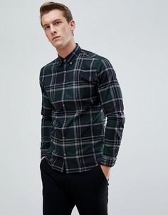 Облегающая рубашка в клетку Jack & Jones - Зеленый