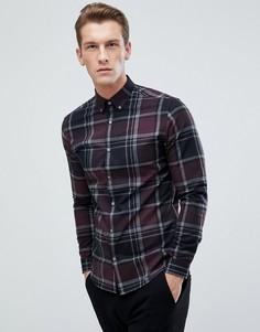 Облегающая рубашка в клетку Jack & Jones - Красный