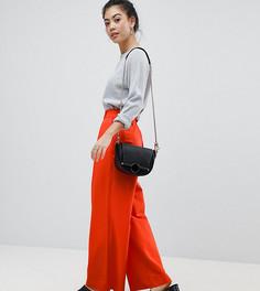 Широкие брюки со складками ASOS PETITE - Оранжевый