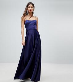 Платье макси с квадратным вырезом ASOS TALL - Темно-синий