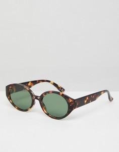 Черепаховые солнцезащитные очки овальной формы ASOS - Коричневый