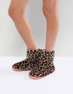 Слиперы-ботинки с леопардовым принтом Hunkemoller - Мульти