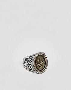 Серебристое кольцо с узором Classics 77 - Серебряный