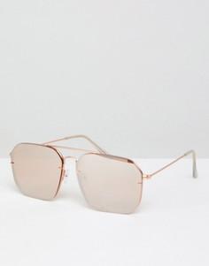 Солнцезащитные очки-авиаторы ASOS - Золотой