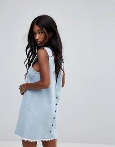 Пляжное джинсовое платье мини Zulu & Zephyr - Синий