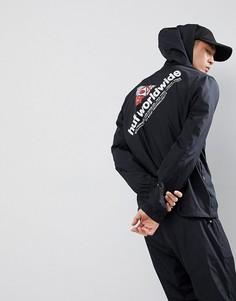 Куртка с принтом на спине HUF Stadium - Черный