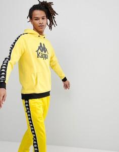 Худи желтого цвета с большим логотипом Kappa - Желтый