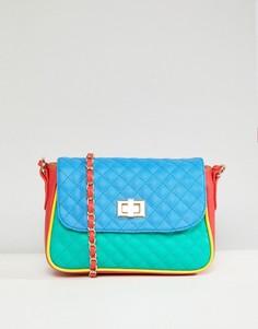 Стеганая сумка через плечо в стиле колор блок ASOS - Красный