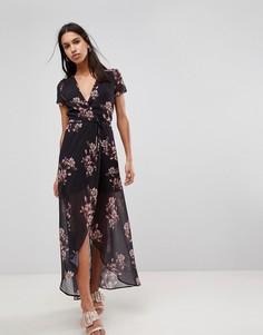Платье макси с цветочным принтом Hope & Ivy - Черный