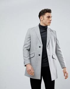 Светло-серое пальто Burton Menswear - Серый
