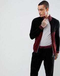 Спортивная куртка с бордовыми вставками ASOS - Мульти