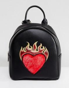 Маленький рюкзак с сердцем Skinnydip - Черный
