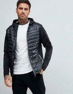 Утепленная дутая куртка Dare2b Transfuse Hybrid - Черный