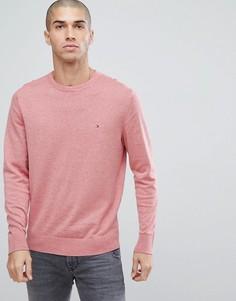 Розовый трикотажный джемпер с логотипом-флажком Tommy Hilfiger - Розовый