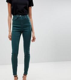 Темно-зеленые джинсы скинни с завышенной талией ASOS TALL RIDLEY - Зеленый