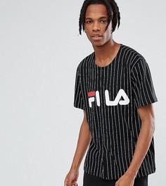 Черная бейсбольная футболка с логотипом Fila Black - Черный