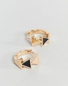 Треугольные серьги-кольца ASOS - Золотой