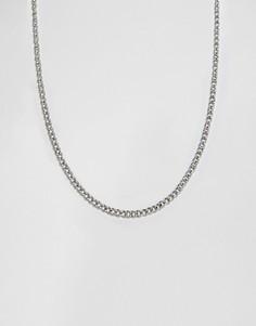 Серебристое ожерелье-цепочка Icon Brand - Серебряный