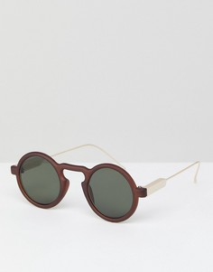Коричневые круглые солнцезащитные очки Spitfire Aurora - Коричневый