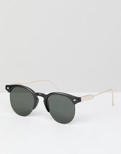 Черные солнцезащитные очки в стиле ретро Spitfire Astro - Черный