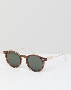 Солнцезащитные очки в круглой черепаховой оправе Spitfire - Коричневый