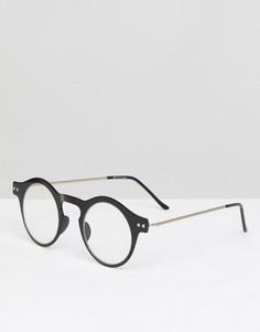 Круглые очки в черной оправе с прозрачными стеклами Spitfire Nexus - Черный