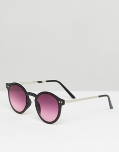 Черные круглые солнцезащитные очки Spitfire British Summer - Черный