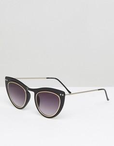 Черные солнцезащитные очки кошачий глаз Spitfire - Черный