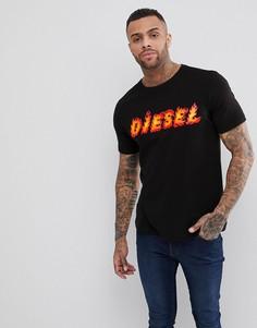 Футболка с логотипом Diesel T-JUST-SH - Черный