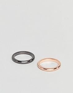 Два контрастных кольца Simon Carter - Золотой