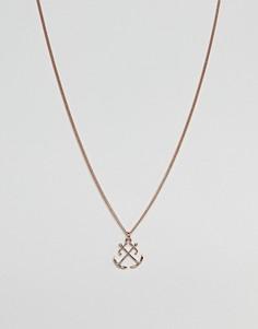 Золотисто-розовое ожерелье с подвеской Simon Carter - Золотой