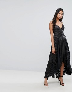 Платье-комбинация со вставками Forever New - Черный