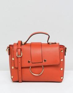 Сумка через плечо с заклепками New Look - Оранжевый