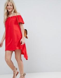 Асимметричный сарафан с открытыми плечами ASOS - Красный