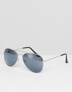 Солнцезащитные очки-авиаторы Reclaimed Vintage Inspired - Серебряный