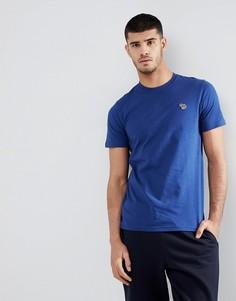 Синяя футболка узкого кроя с логотипом-зеброй PS Paul Smith - Синий