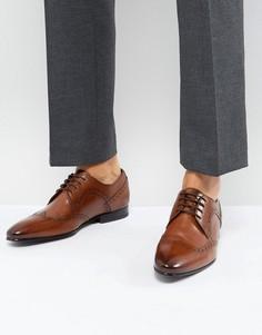 Светло-коричневые кожаные броги Ted Baker Ollivur - Рыжий