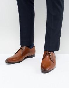 Светло-коричневые кожаные дерби Ted Baker Peair - Рыжий