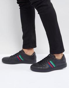 Черные кожаные кроссовки PS Paul Smith Lapin - Черный